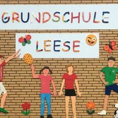 Bild Hauswand©Grundschule Leese
