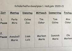 Dienstplan©Grundschule Leese