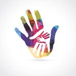 Grafik Hände in Hand